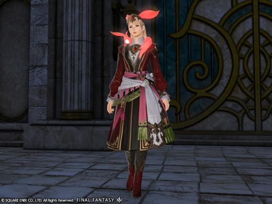 Capture d'écran de la Tenue Carbuncle Rubis FFXIV - Final Fantasy XIV