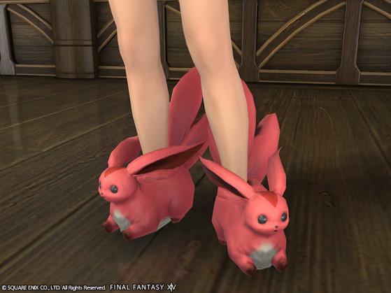 Capture d'écran des Chaussons Carbuncle Rubis FFXIV - Final Fantasy XIV