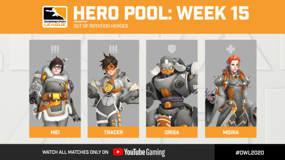 Overwatch League : Héros Pool semaine 15, Tracer, Mei, Moira, Orisa