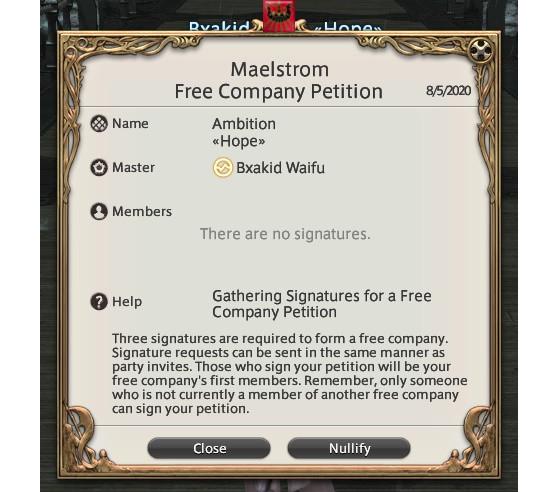 FFXIV Créer et rejoindre une Compagnie Libre - Final Fantasy XIV