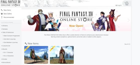 Une toute nouvelle boutique en ligne pour FFXIV