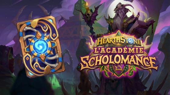 Hearthstone extension L'Académie de Scholomance : dos de carte Kel'Thuzad