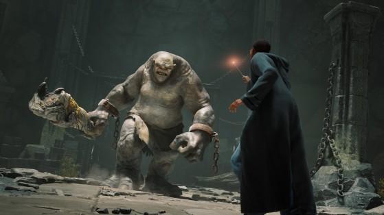 Combat contre un Troll des Montagnes - Harry Potter Hogwarts Legacy