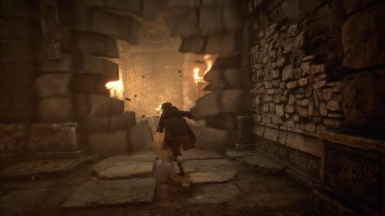 Ouverture d'un passage grâce à la baguette - Harry Potter Hogwarts Legacy