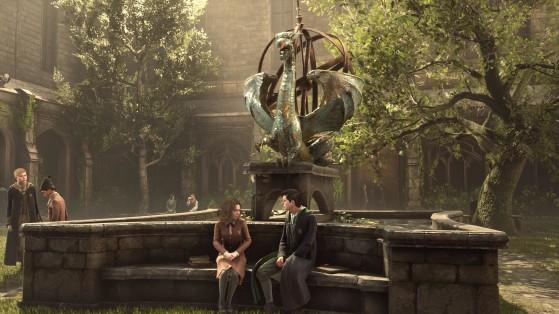 La cour intérieure de Poudlard - Harry Potter Hogwarts Legacy
