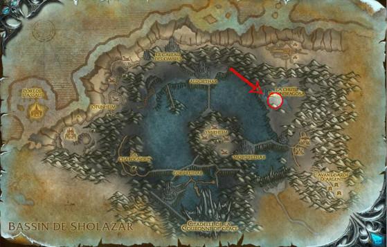 Localisation de Bronjahm - World of Warcraft
