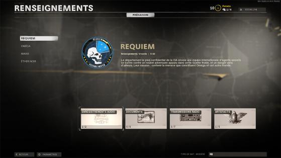 Black Ops Cold War Zombie : les renseignements de Requiem, où les trouver