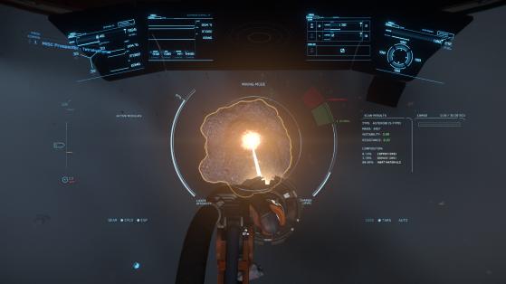 La nouvelle interface pour le Prospector - Star Citizen