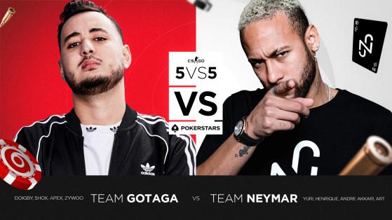 Counter Strike : Gotaga et Neymar s'affrontent au cours d'une soirée Pokerstars