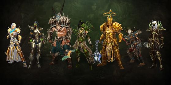 Les nouveaux sets de classe introduits lors des derniers patchs. - Diablo IV