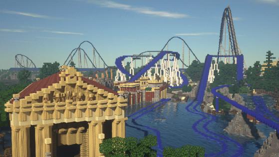 L'incroyable reconstitution de l'Europa Park et Rulantica sur Minecraft !