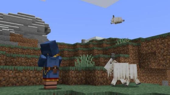 Minecraft caves and cliffs snapshot 21w13a : Les chèvres ont été ajoutées à la version java !
