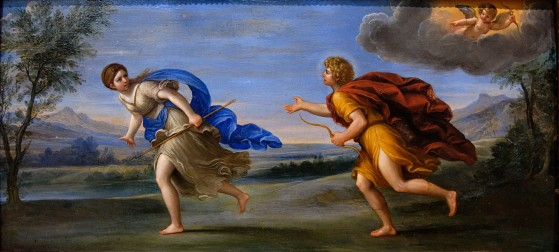 Apollon et Daphné, un tableau d'Albani exposé au Louvre à Paris. - League of Legends
