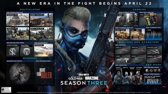 La saison 3 de Black Ops Cold War et Warzone