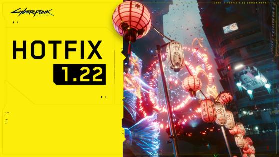 Un nouveau patch correctif 1.22 pour Cyberpunk 2077