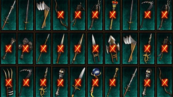 Diablo 3 : Liste des objets éthériens, de la Saison 24, patch 2.7.1, armes éthérées