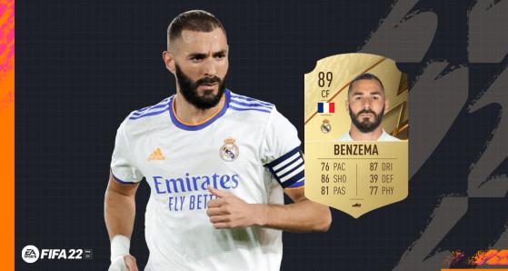 FIFA 22 - Les notes du Real Madrid avec Karim Benzema à 89 sur FUT !