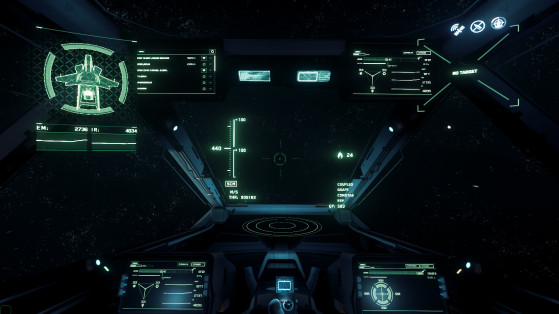 Vue du pilote - Star Citizen