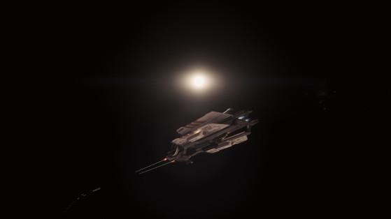 Les canons en action - Star Citizen