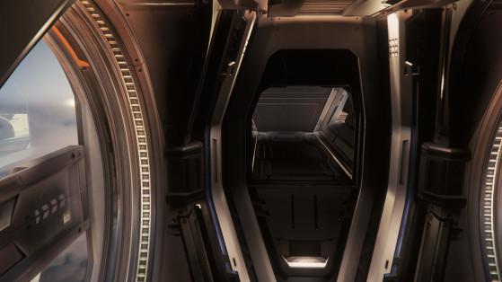La couchette à l'arrière du cockpit - Star Citizen