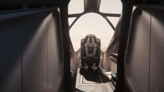 Couloir vers le cockpit - Star Citizen