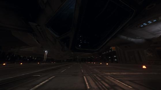 Le poste de pilotage sous l'appareil - Star Citizen