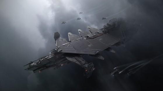 En vol avec son escadrille - Star Citizen