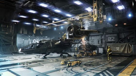 Hangar à réparation - Star Citizen