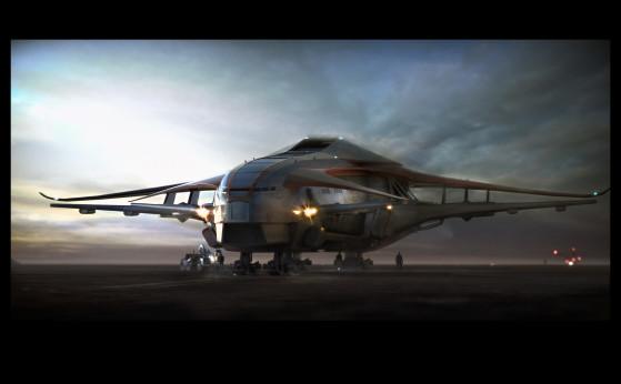 Sur la piste de décollage - Star Citizen