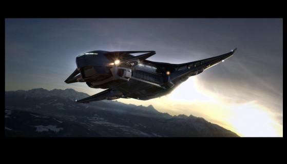 En vol atmosphérique - Star Citizen