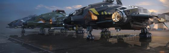 Harbinger entre un Vanguard et un Sentinel - Star Citizen