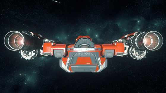 Le Cutlass red vue de derriere - Star Citizen