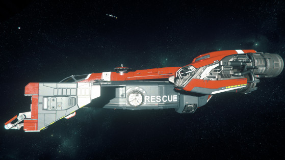 Vue de coté et emplacement de docking du Cutlass red - Star Citizen