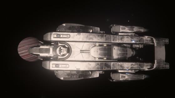 Le Starfarer vu du dessus - Star Citizen
