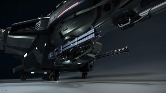 Les puissantes armes à l'avant du vaisseau - Star Citizen